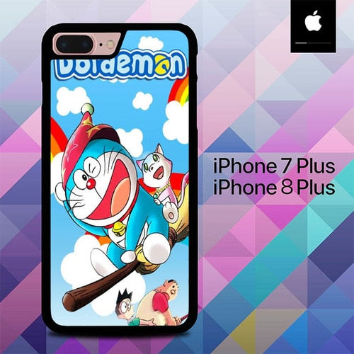 Doraemon Wallpaper O7511 hoesjes iPhone 7 Plus , iPhone 8 Plus