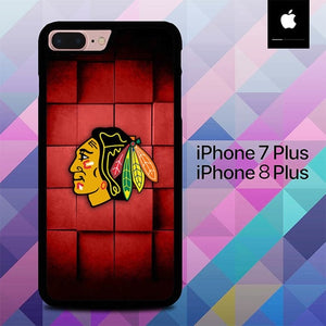 Red Squares Blackhawks O7515 hoesjes iPhone 7 Plus , iPhone 8 Plus