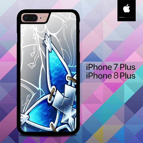 Kingdom Hearts Aqua Wayfinder O7644 hoesjes iPhone 7 Plus , iPhone 8 Plus