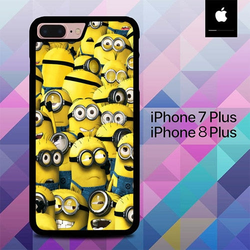 Minions O7710 hoesjes iPhone 7 Plus , iPhone 8 Plus