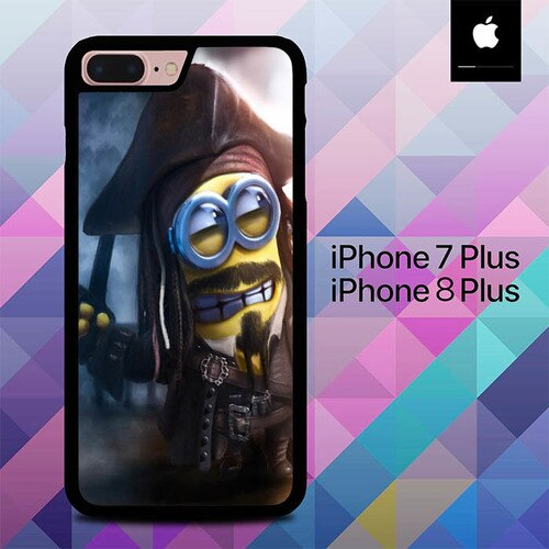 Minions Captain Jack Sparrow O7712 hoesjes iPhone 7 Plus , iPhone 8 Plus
