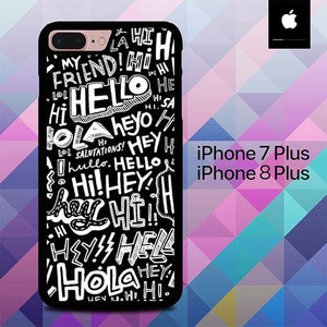 Typografi Hello O0011 hoesjes iPhone 7 Plus , iPhone 8 Plus