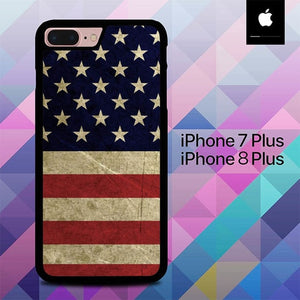 American Flag 3 O0232 hoesjes iPhone 7 Plus , iPhone 8 Plus
