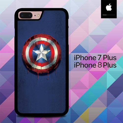 Sheild of Captain America O0335 hoesjes iPhone 7 Plus , iPhone 8 Plus