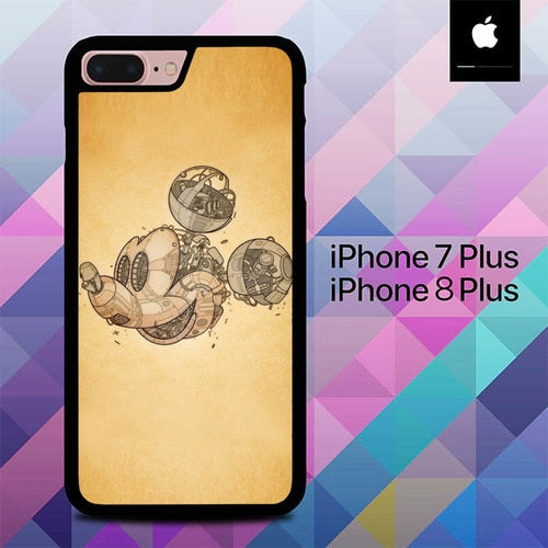 Mick-Anical O0364 hoesjes iPhone 7 Plus , iPhone 8 Plus