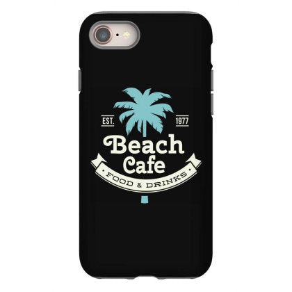 beach cafe food and drinks iphone 8 hoesjes