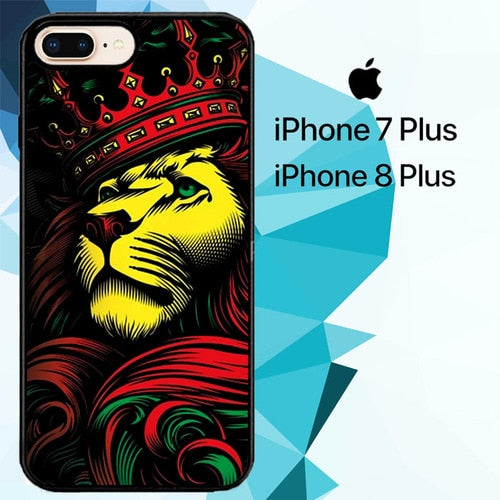 Lion Rasta Style hoesjes iPhone 7 Plus , iPhone 8 Plus