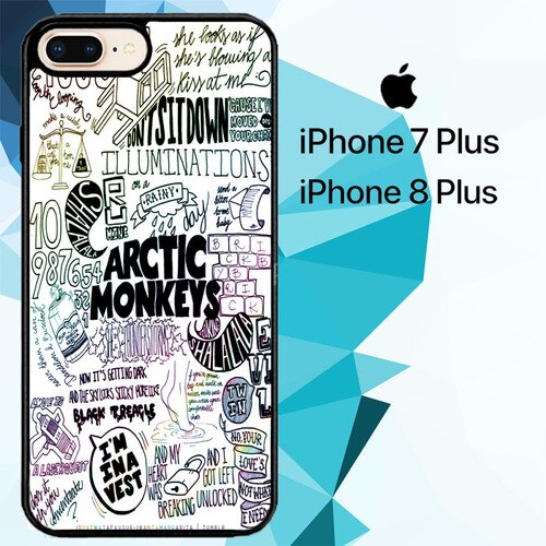 ARCTIC MONKEYS BAND LYRICS QUOTE Z0914 hoesjes iPhone 7 Plus , iPhone 8 Plus