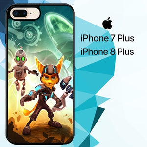 ratchet and clank Z1150 hoesjes iPhone 7 Plus , iPhone 8 Plus