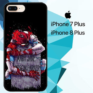 RIP Mary Jane Spiderman Z1158 hoesjes iPhone 7 Plus , iPhone 8 Plus
