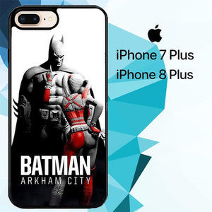 BATMAN AND HARLEY QUINN Z1192 hoesjes iPhone 7 Plus , iPhone 8 Plus