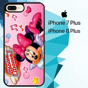 Mini mouse Z1356 hoesjes iPhone 7 Plus , iPhone 8 Plus