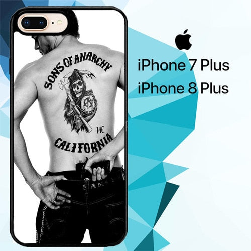 Paul walker Sons of anarchy tatto Z1499 hoesjes iPhone 7 Plus , iPhone 8 Plus