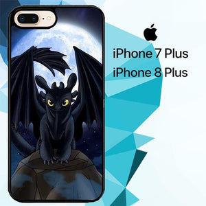 Awesome Toothless Z1500 hoesjes iPhone 7 Plus , iPhone 8 Plus