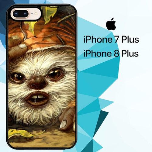 Ewok Forest Scout Star Wars Z1637 hoesjes iPhone 7 Plus , iPhone 8 Plus