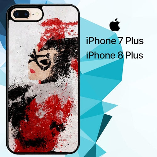 harley quinn painting Z1686 hoesjes iPhone 7 Plus , iPhone 8 Plus