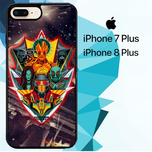 guardian of the galaxy vector Z2116 hoesjes iPhone 7 Plus , iPhone 8 Plus