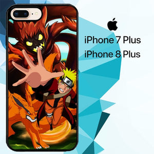naruto Kurama Chakra Z2136 hoesjes iPhone 7 Plus , iPhone 8 Plus