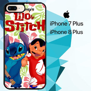 lilo stitch Z2200 hoesjes iPhone 7 Plus , iPhone 8 Plus