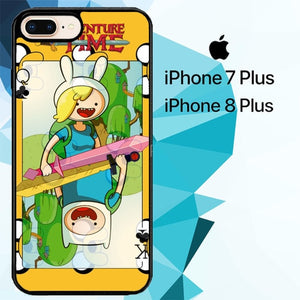 adventure time finn x fionna Z2397 hoesjes iPhone 7 Plus , iPhone 8 Plus