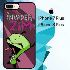 gir invader zim 2 Z2667 hoesjes iPhone 7 Plus , iPhone 8 Plus