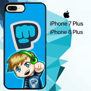 Pewdiepie Brofist Z2846 hoesjes iPhone 7 Plus , iPhone 8 Plus