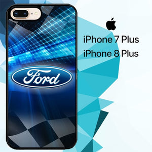 ford cars logo Z3351 hoesjes iPhone 7 Plus , iPhone 8 Plus