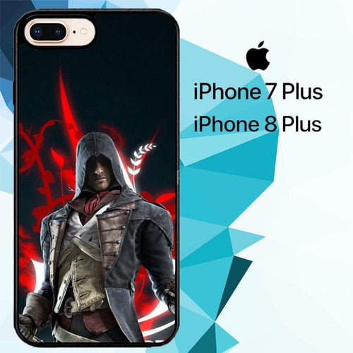 assassin creed unity Z3436 hoesjes iPhone 7 Plus , iPhone 8 Plus