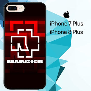 Rammstein Band Logo Z3537 hoesjes iPhone 7 Plus , iPhone 8 Plus