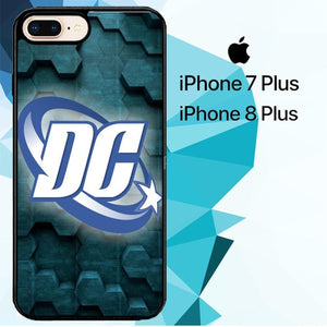 dc universe logo Z3677 hoesjes iPhone 7 Plus , iPhone 8 Plus