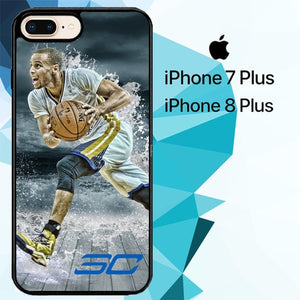 stephen curry water art Z3892 hoesjes iPhone 7 Plus , iPhone 8 Plus