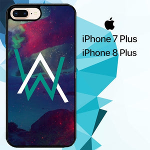 alan walker galaxy logo Z3899 hoesjes iPhone 7 Plus , iPhone 8 Plus