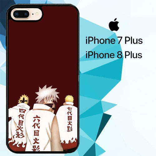 Konoha Hokage Naruto Z3965 hoesjes iPhone 7 Plus , iPhone 8 Plus