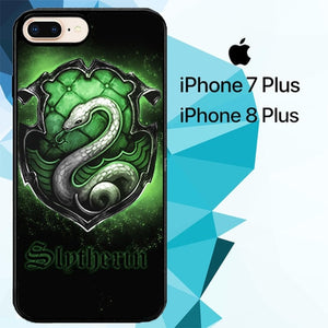Slytherin Logo Z4390 hoesjes iPhone 7 Plus , iPhone 8 Plus