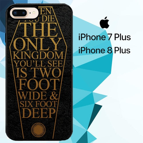 lyrics Bring Me The Horizon logo Z4410 hoesjes iPhone 7 Plus , iPhone 8 Plus