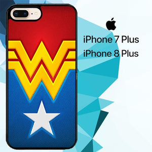 wonder women logo Z4676 hoesjes iPhone 7 Plus , iPhone 8 Plus