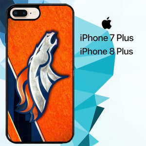 denver broncos nfl logo ori Z4716 hoesjes iPhone 7 Plus , iPhone 8 Plus