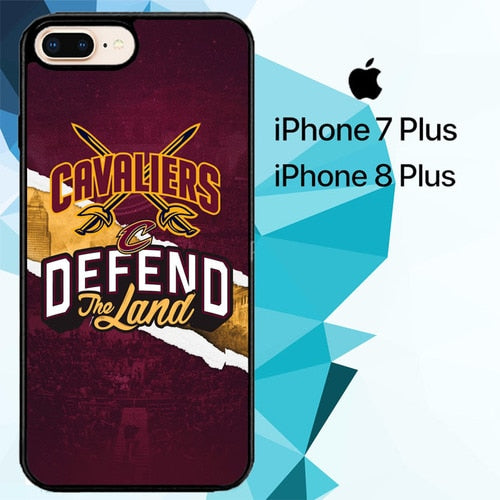 Defend The Land Cavaliers Playoff Z4806 hoesjes iPhone 7 Plus , iPhone 8 Plus