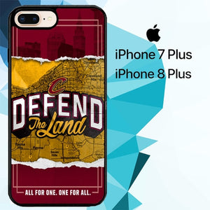 Defend The Land Cavaliers Playoff Z4812 hoesjes iPhone 7 Plus , iPhone 8 Plus