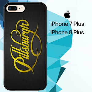 pittsburgh steelers logo font Z4880 hoesjes iPhone 7 Plus , iPhone 8 Plus