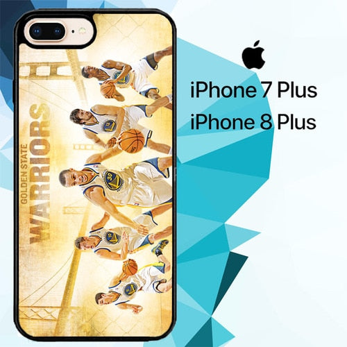 NBA Playoffs Golden State Warriors Z4906 hoesjes iPhone 7 Plus , iPhone 8 Plus