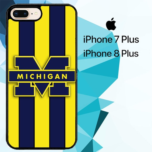 michigan wolverines logo Z4910 hoesjes iPhone 7 Plus , iPhone 8 Plus