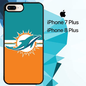 miami dolphins logo Z4990 hoesjes iPhone 7 Plus , iPhone 8 Plus