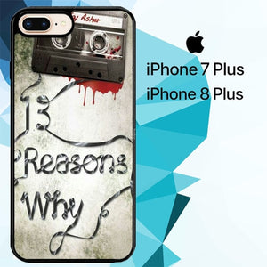Thirteen Reasons Why Z5005 hoesjes iPhone 7 Plus , iPhone 8 Plus