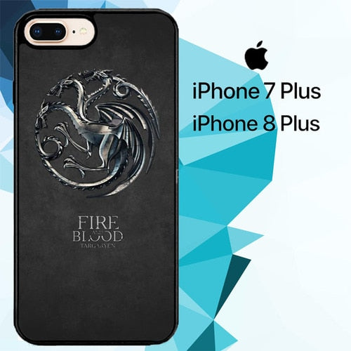 House Targaryen Metal Z5068 hoesjes iPhone 7 Plus , iPhone 8 Plus