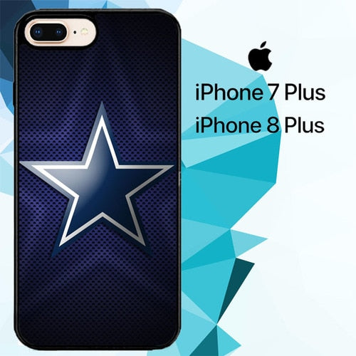 Dallas Cowboys Logo Z5252 hoesjes iPhone 7 Plus , iPhone 8 Plus