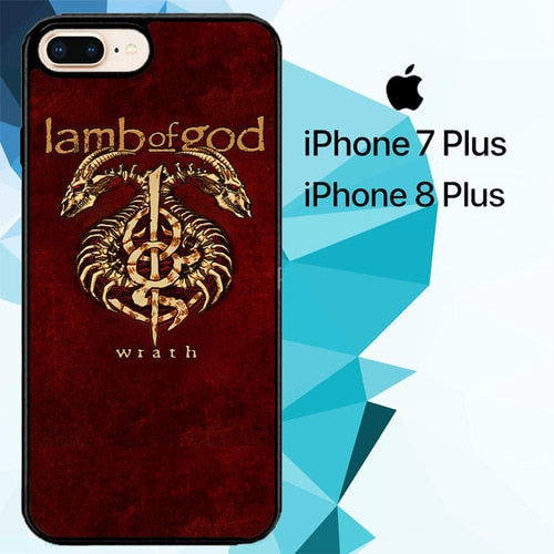 LAMB OF GOD METAL BAND Z5423 hoesjes iPhone 7 Plus , iPhone 8 Plus