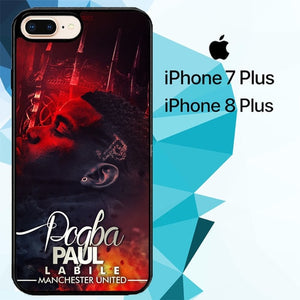 Paul Pogba Manchester United Z4267 hoesjes iPhone 7 Plus , iPhone 8 Plus