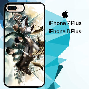 Attack On Titan Season 3 Z4411 hoesjes iPhone 7 Plus , iPhone 8 Plus