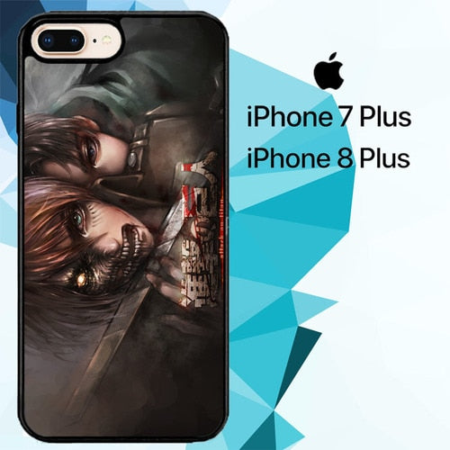 Attack On Titan Season Z4412 hoesjes iPhone 7 Plus , iPhone 8 Plus